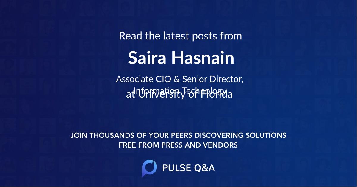 Saira Hasnain