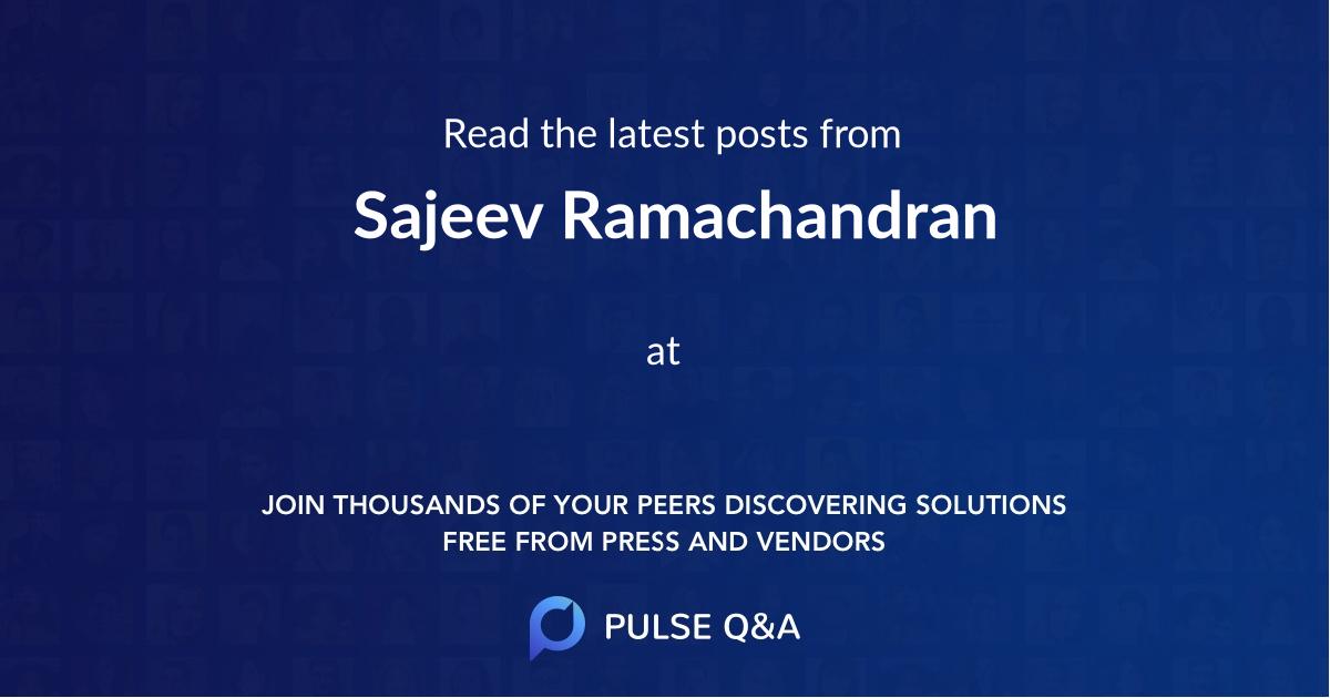 Sajeev Ramachandran