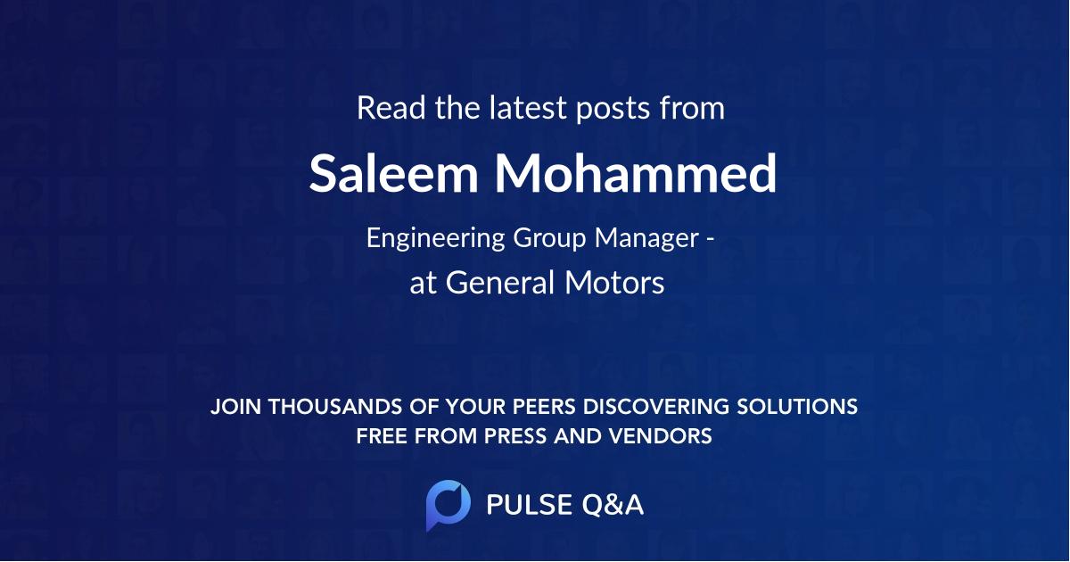 Saleem Mohammed