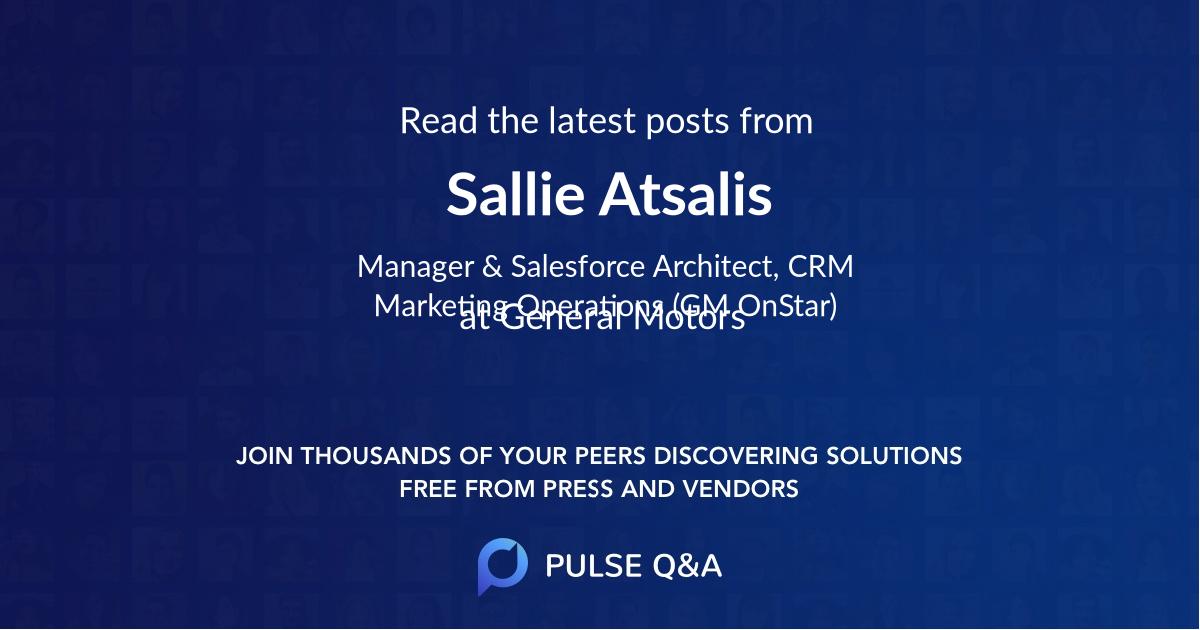 Sallie Atsalis