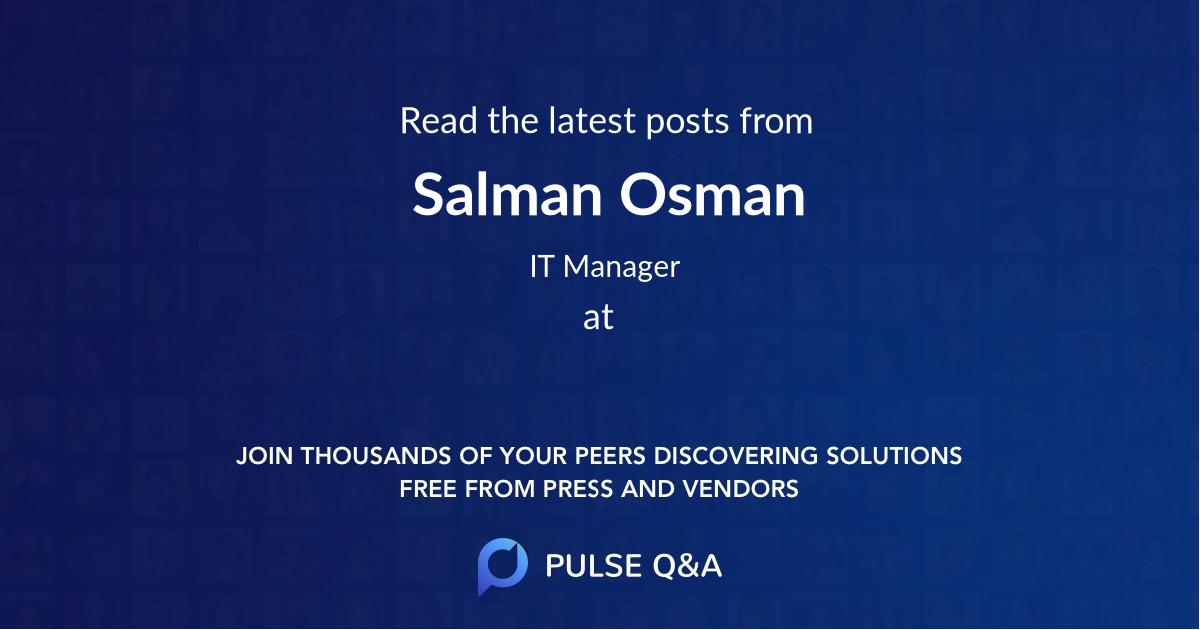 Salman Osman