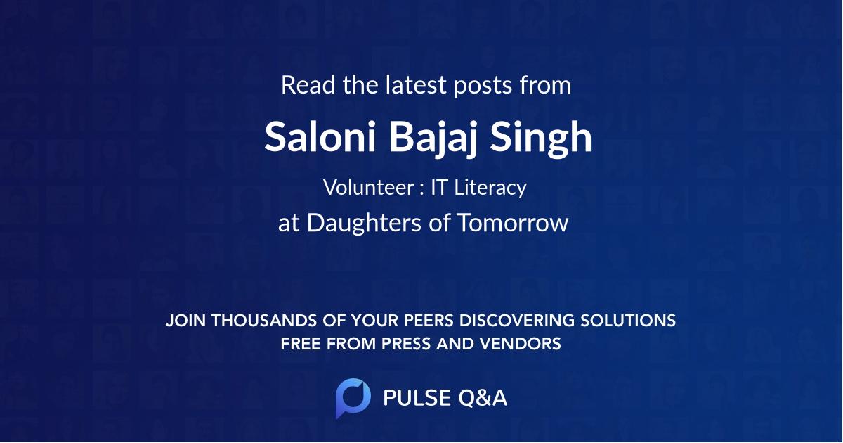 Saloni Bajaj Singh