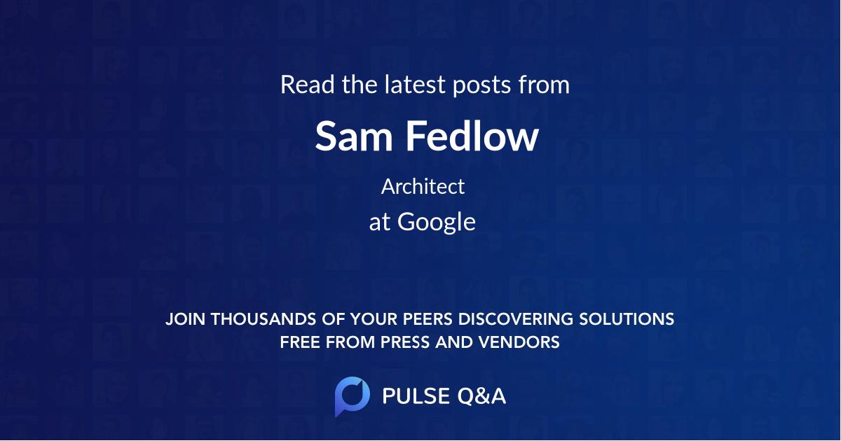 Sam Fedlow