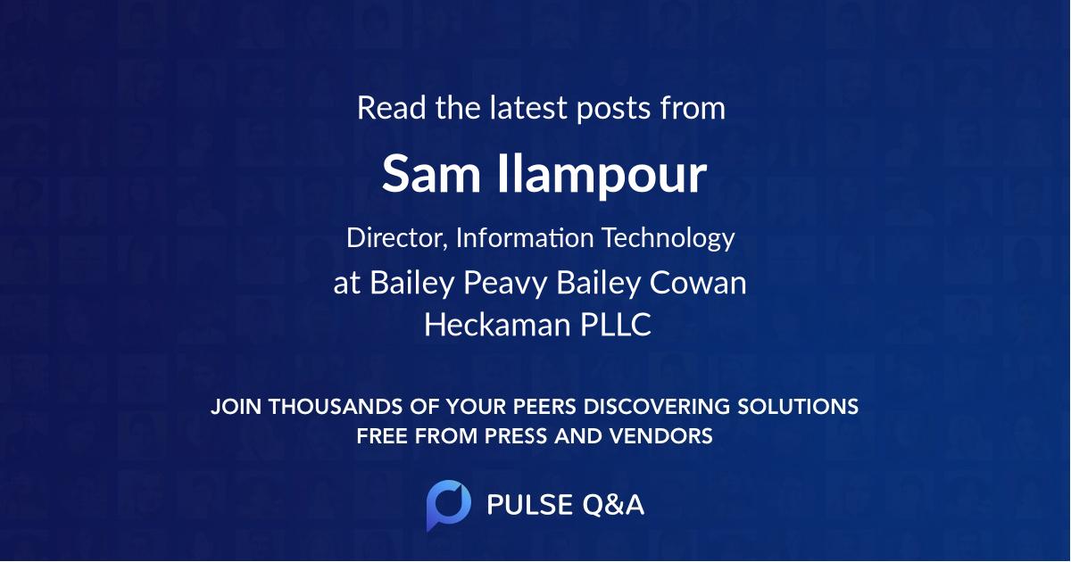 Sam Ilampour
