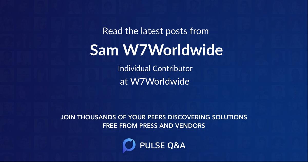 Sam W7Worldwide