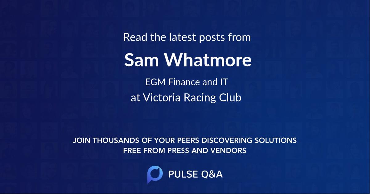 Sam Whatmore