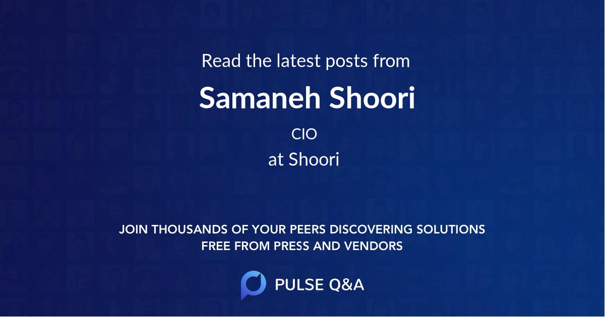 Samaneh Shoori
