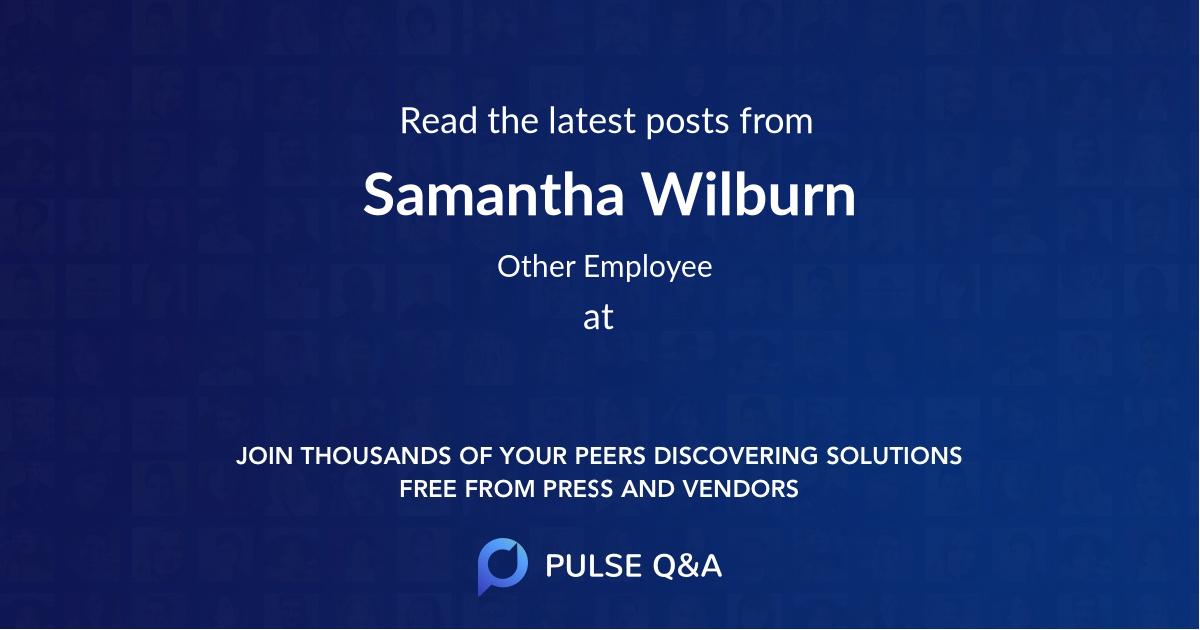 Samantha Wilburn