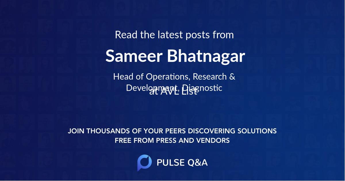 Sameer Bhatnagar