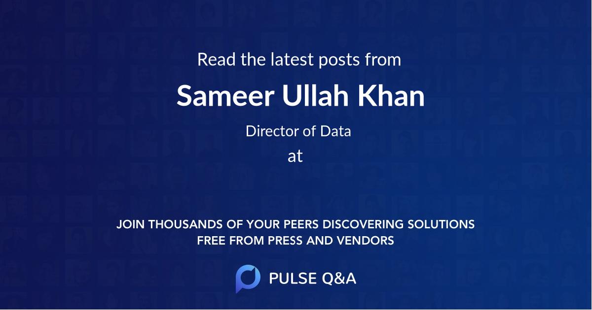 Sameer Ullah Khan