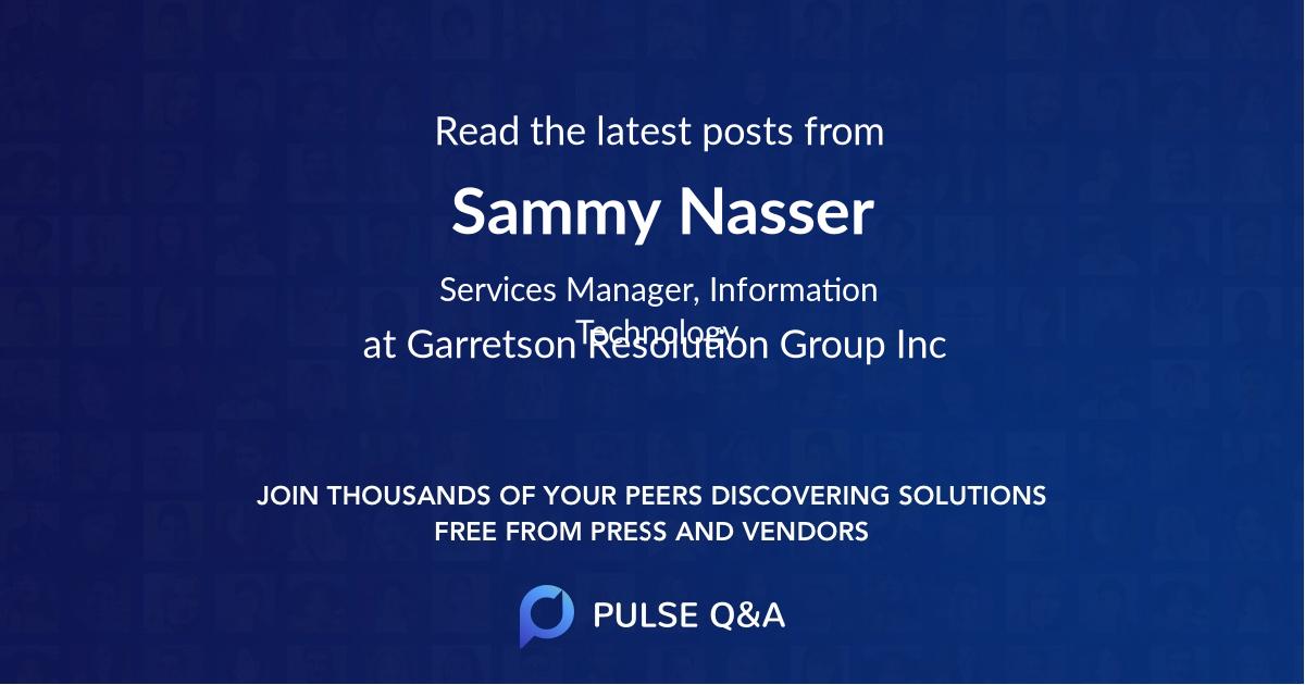 Sammy Nasser