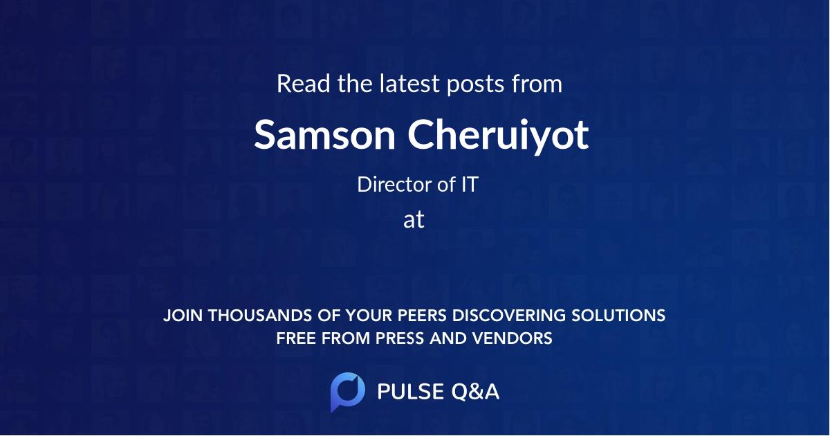Samson Cheruiyot