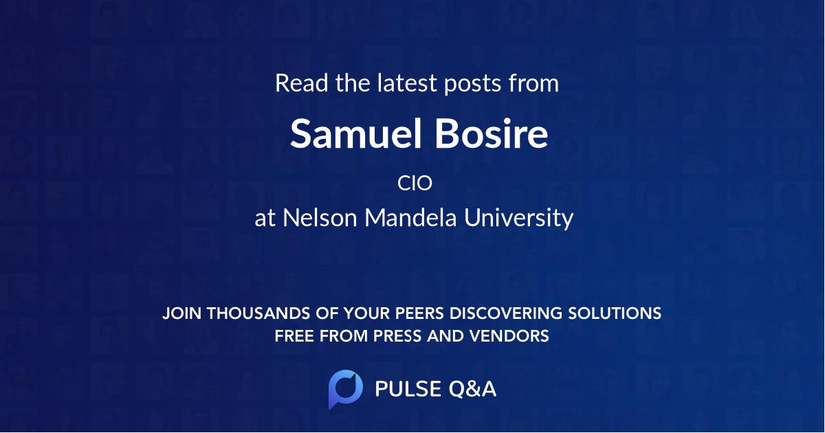 Samuel Bosire
