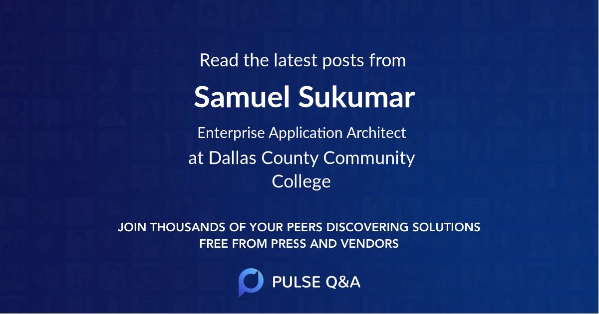 Samuel Sukumar