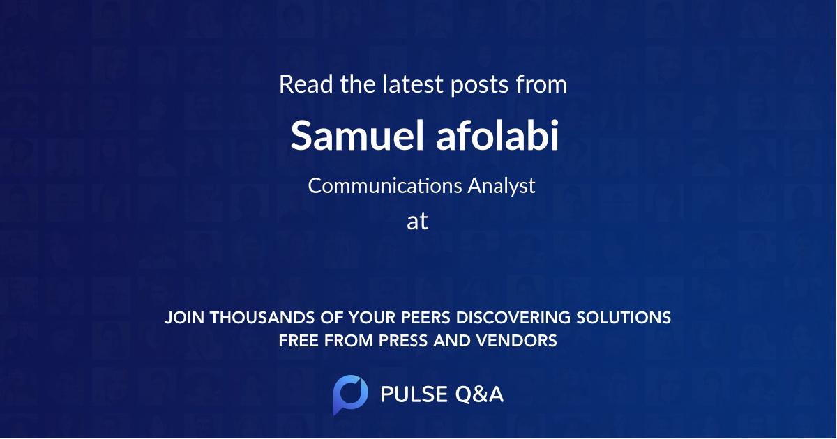 Samuel afolabi