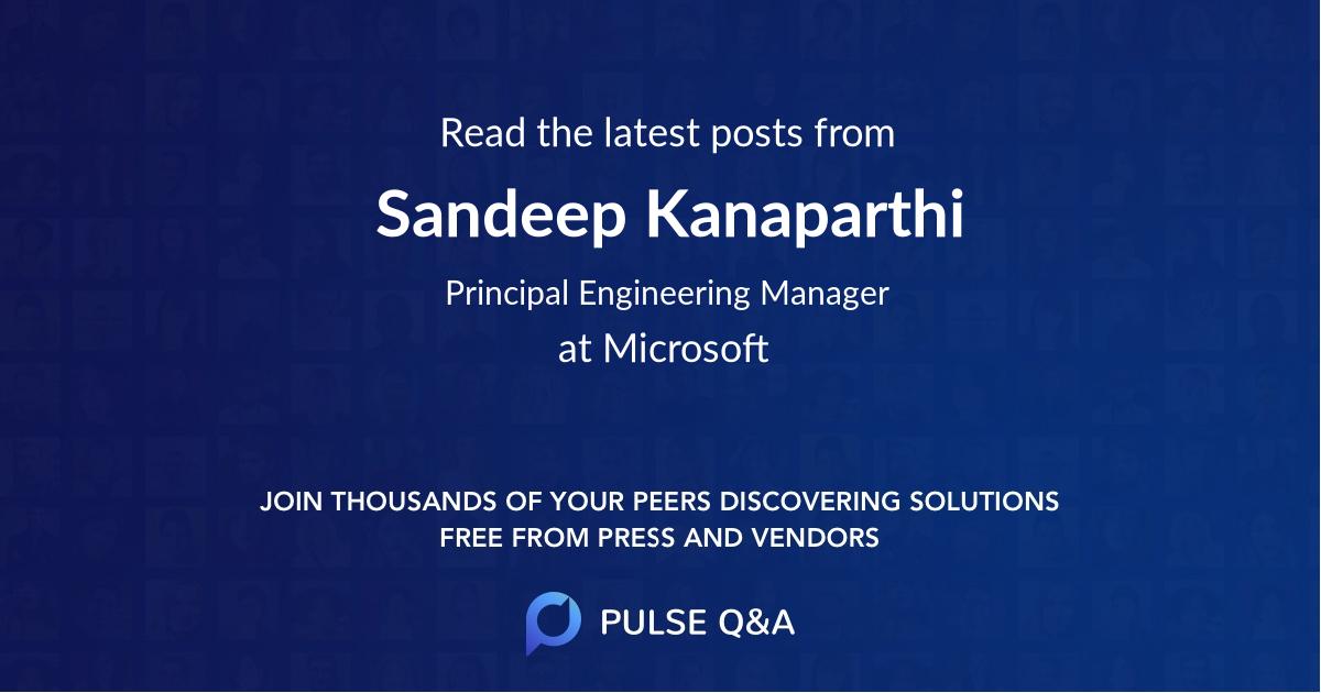 Sandeep Kanaparthi