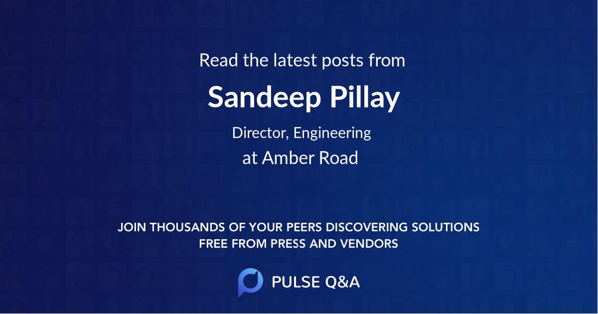 Sandeep Pillay