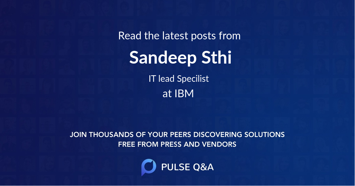 Sandeep Sthi