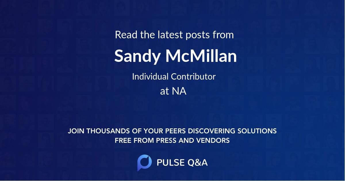Sandy McMillan