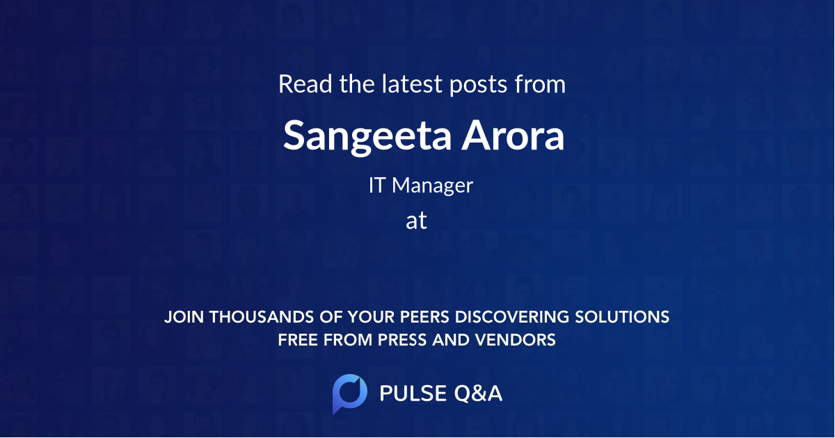 Sangeeta Arora