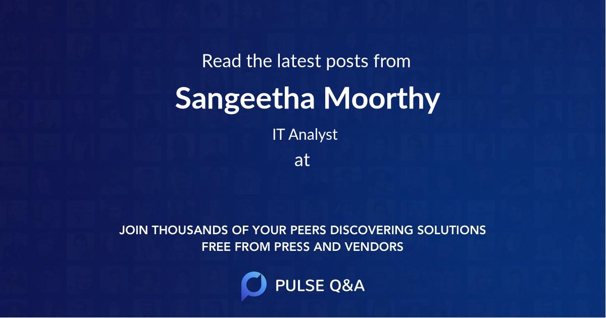 Sangeetha Moorthy
