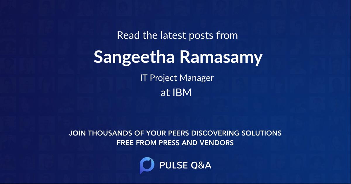 Sangeetha Ramasamy