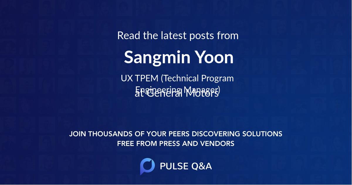 Sangmin Yoon