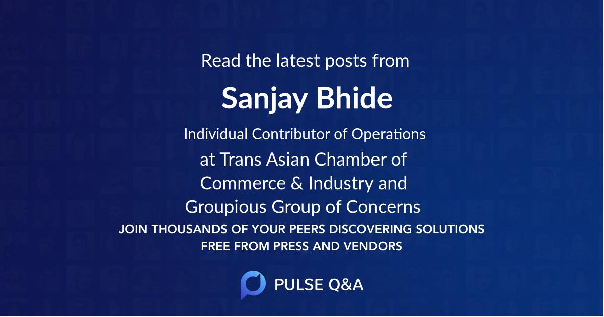 Sanjay Bhide