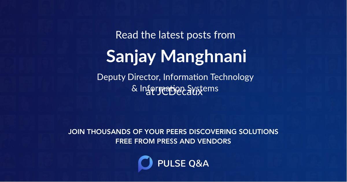 Sanjay Manghnani