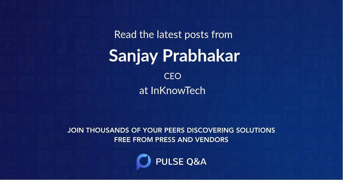 Sanjay Prabhakar