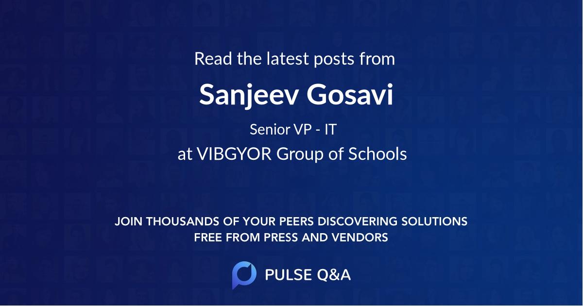 Sanjeev Gosavi