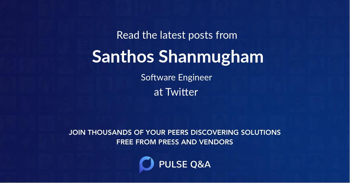 Santhos Shanmugham