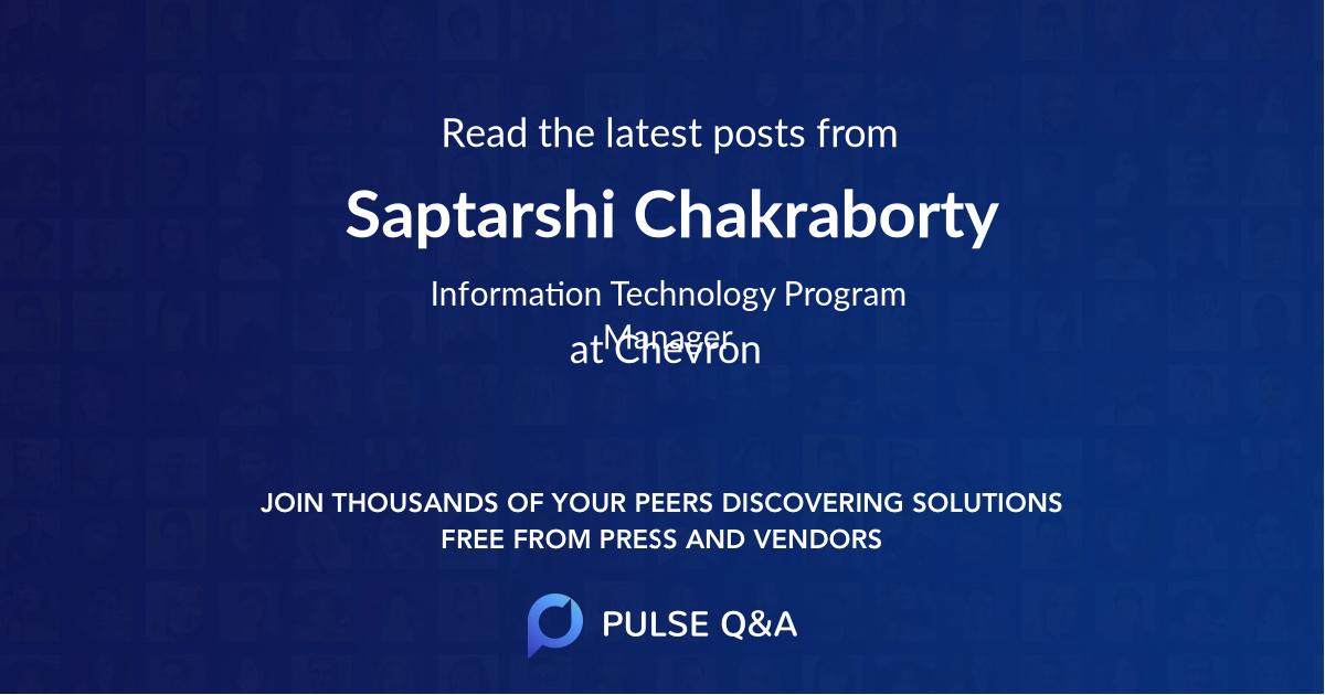 Saptarshi Chakraborty