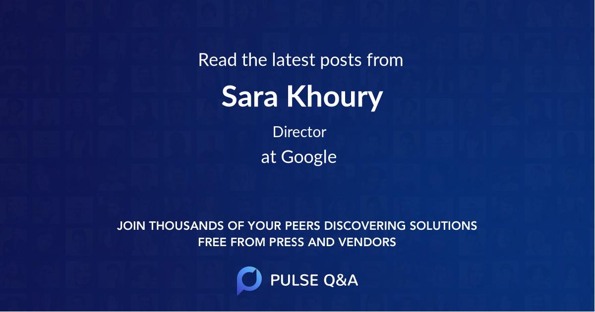 Sara Khoury