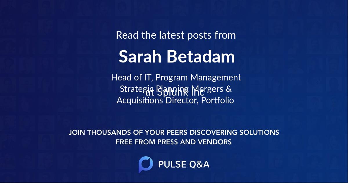 Sarah Betadam