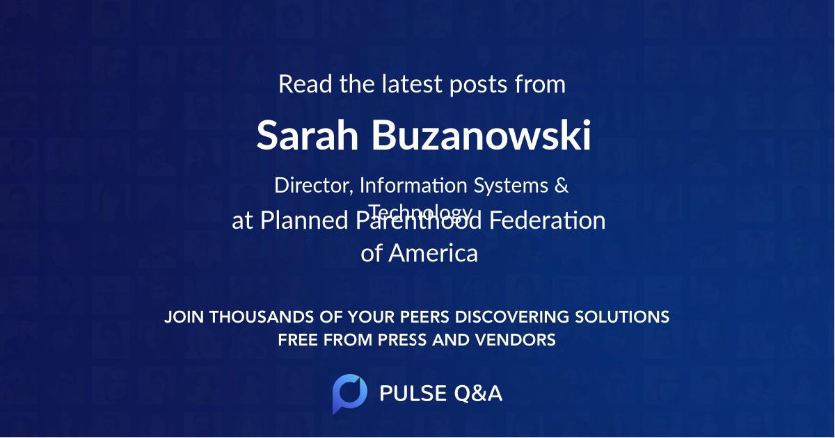 Sarah Buzanowski