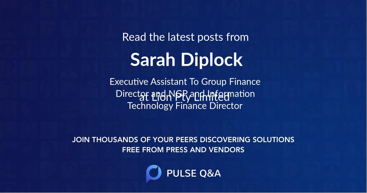 Sarah Diplock