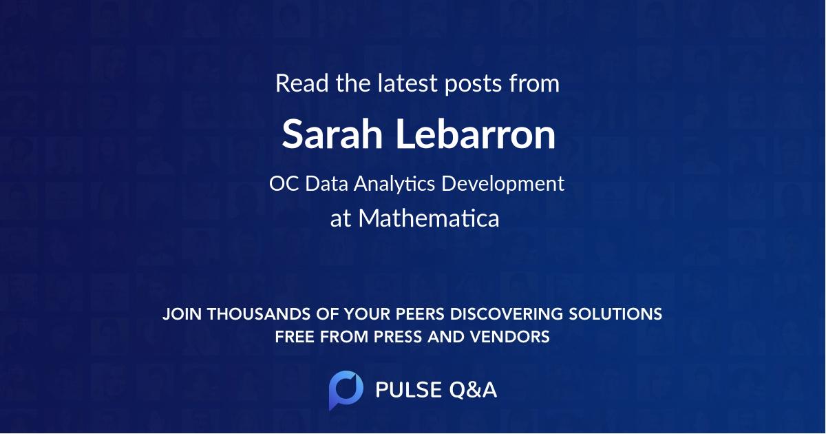 Sarah Lebarron
