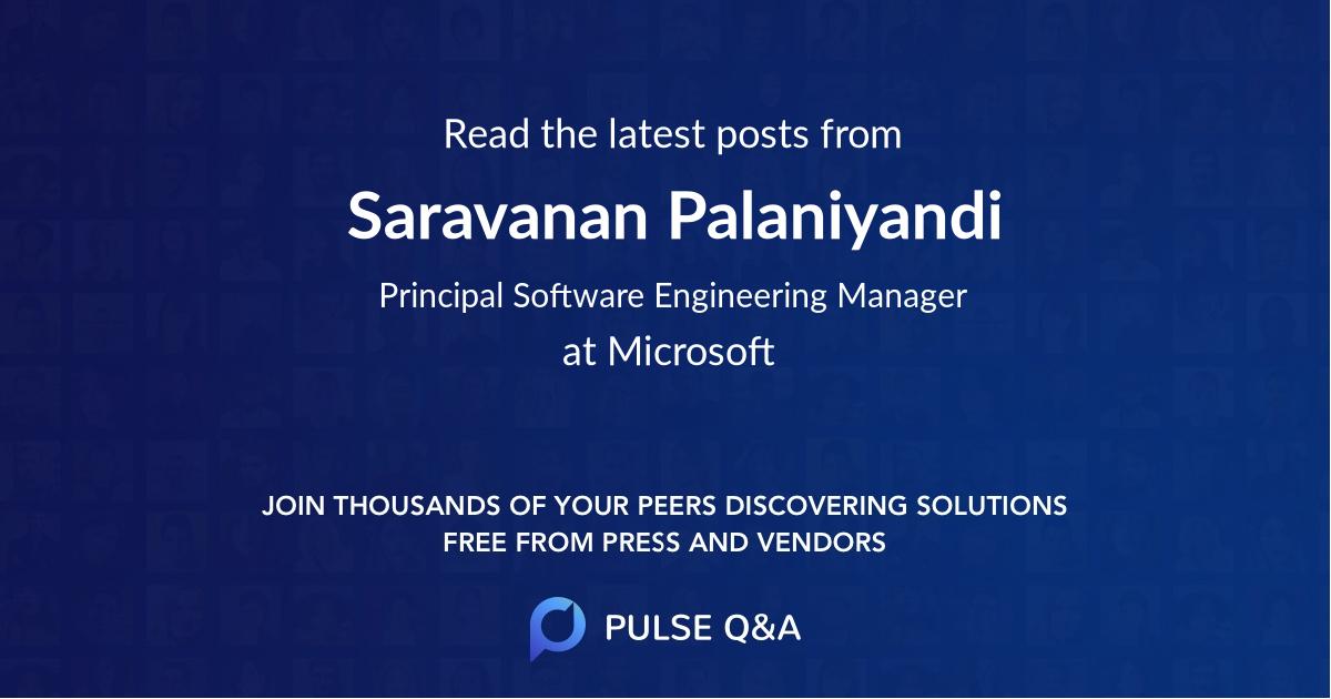 Saravanan Palaniyandi