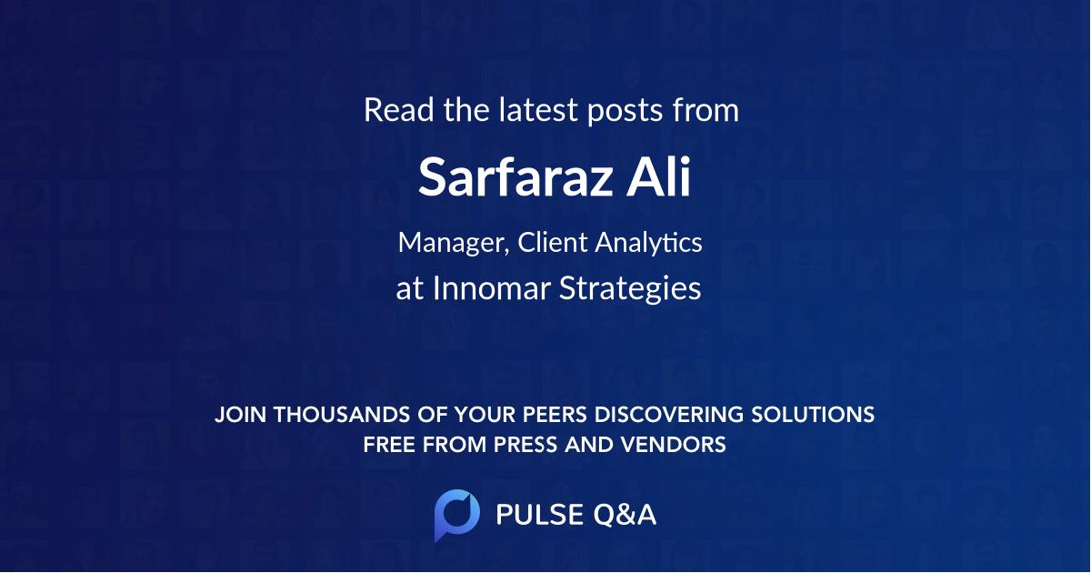 Sarfaraz Ali
