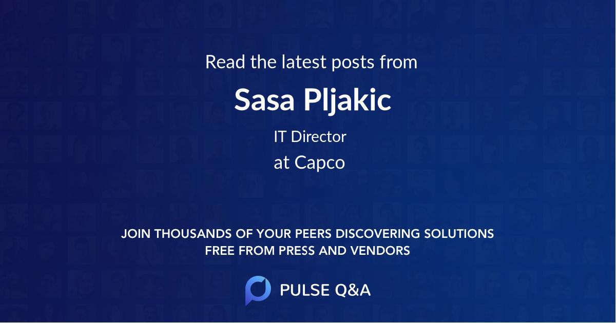 Sasa Pljakic