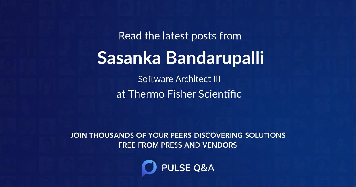 Sasanka Bandarupalli