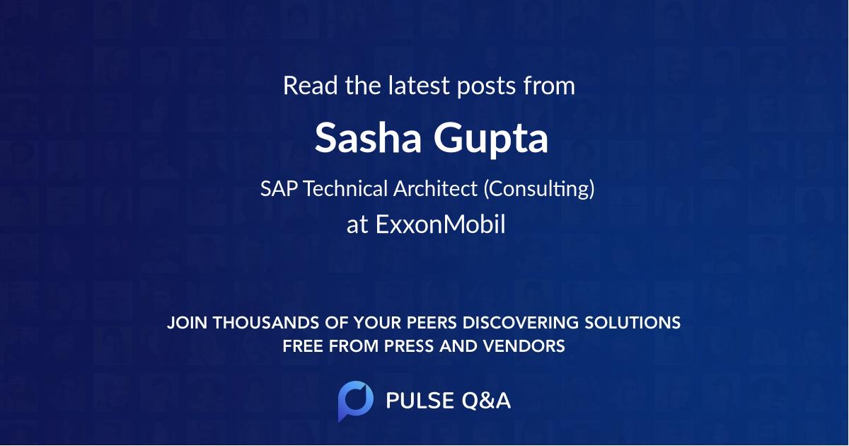 Sasha Gupta