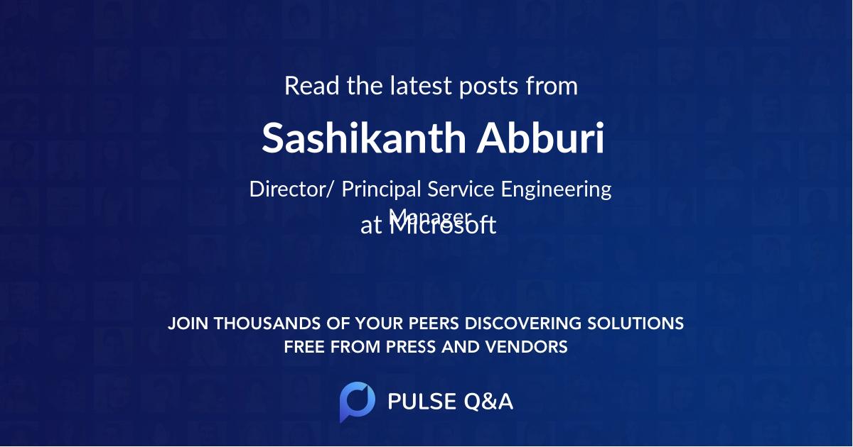 Sashikanth Abburi