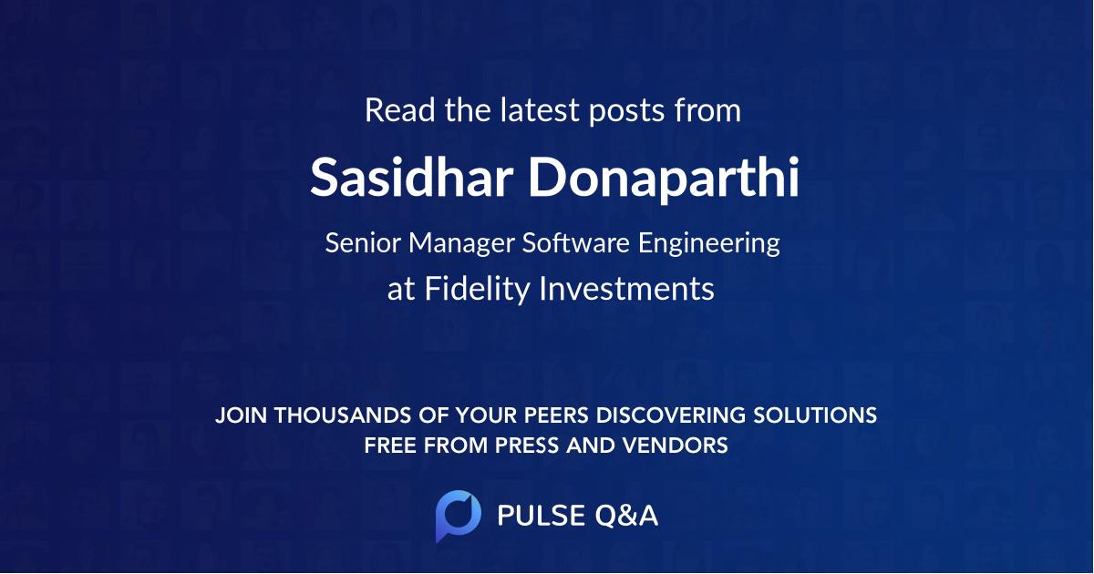 Sasidhar Donaparthi