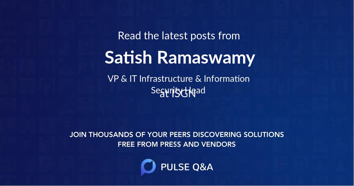 Satish Ramaswamy