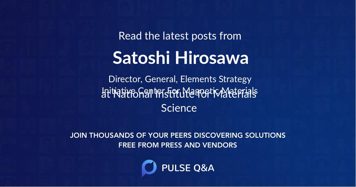Satoshi Hirosawa