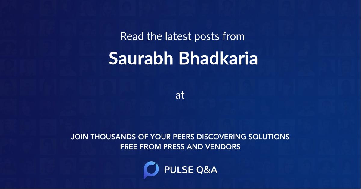 Saurabh Bhadkaria