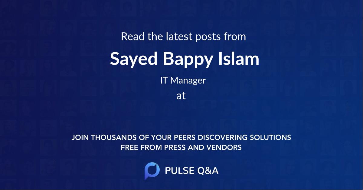 Sayed Bappy Islam