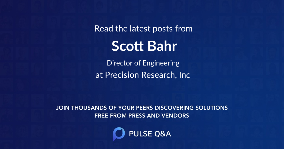 Scott Bahr